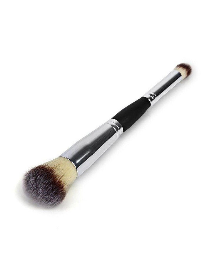 MAKE UP BRUSH DOUBLE ENDED - LIQUID  FOUNDATION -  EYESHADOW