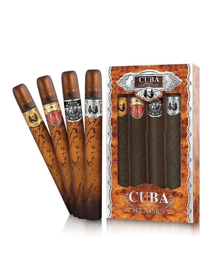 SET CUBA 4 CIGAR CLASSIC FOR MEN