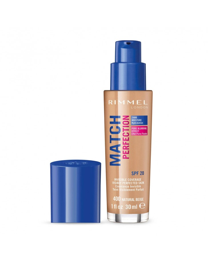 RIMMEL MATCH PERFECTION FOUNDATION 400 NATURAL BEIGE