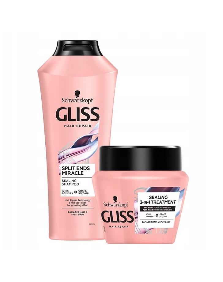 GLISS SHAMPOO EN 2-IN-1 TREATMENT SPLIT HAIR MIRACLE REPAIR