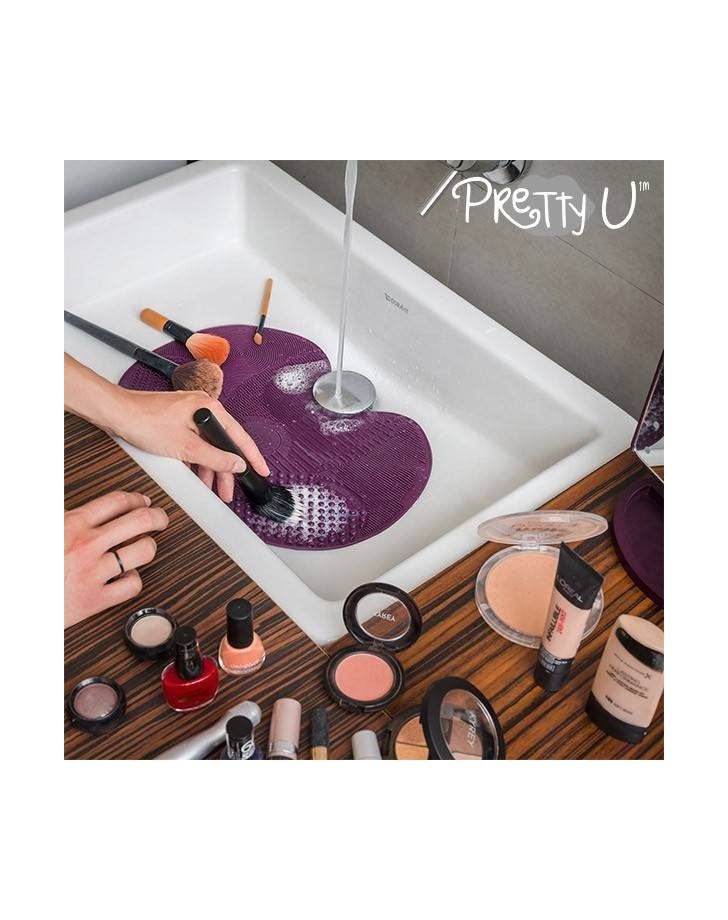 Pretty U Reinigingskussen voor Make-Up-Kwasten